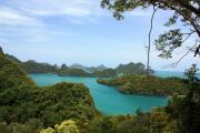 Анг Тонг Парк - обзорная площадка, вид на острова заповедника